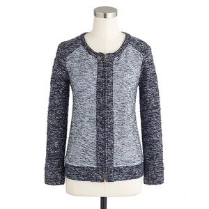 J. Crew Boucle jacket in indigo colorblock size S